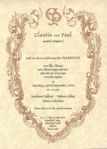 renaissance wedding invitations and stationery for brides